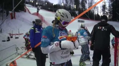 Mikaela Shiffrin and Ski Legends at the VIP Snow Queen Trophy 2015